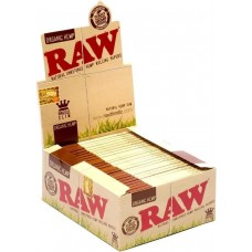 Raw Organic Papers King Size Slim (Box 50/32 Leaves)